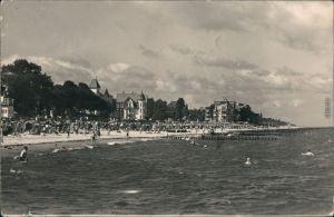 Ansichtskarte Kühlungsborn Strand mit Badegästen 1958