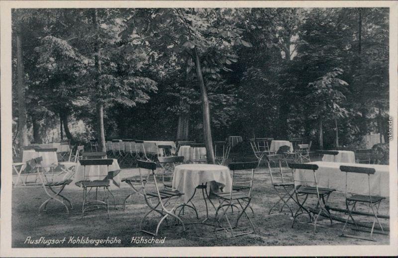 Höhscheid-Solingen Ausflugsort Kohlsbergerhöhe - Gästebereich - Außen 1934