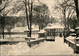 Ansichtskarte Wernigerode Konsum-Gastgaststätte Storchmühle im Winter 1959
