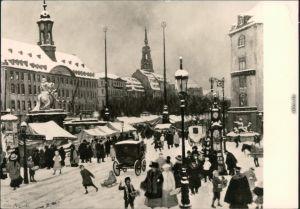 Dresden Striezelmarkt auf dem Neustädter Markt in Dresden um 1900 g1981