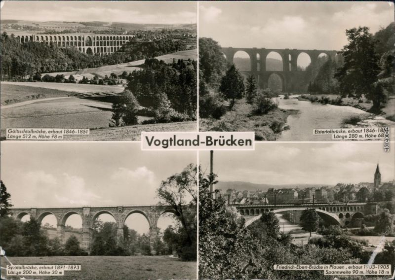Plauen (Vogtland) Vogtland-Brücken: Göltzschtalbrücke,    1958