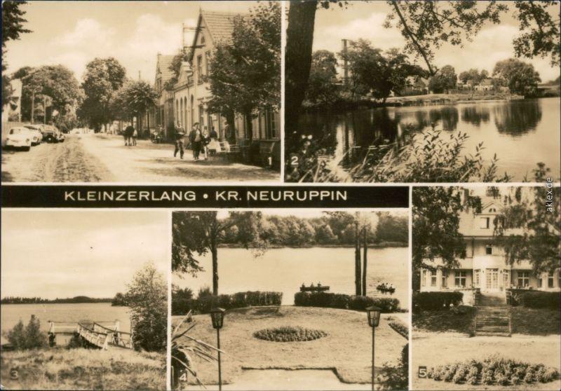 Kleinzerlang- Rheinsberg Dorfstraße, Teilansicht,  FDGB-Café 1970