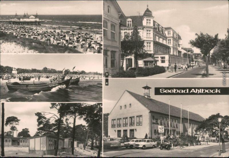 Ahlbeck (Usedom) Seebrücke, FDGB-Bungalowdorf, FDGB-Erholungsheim  1975