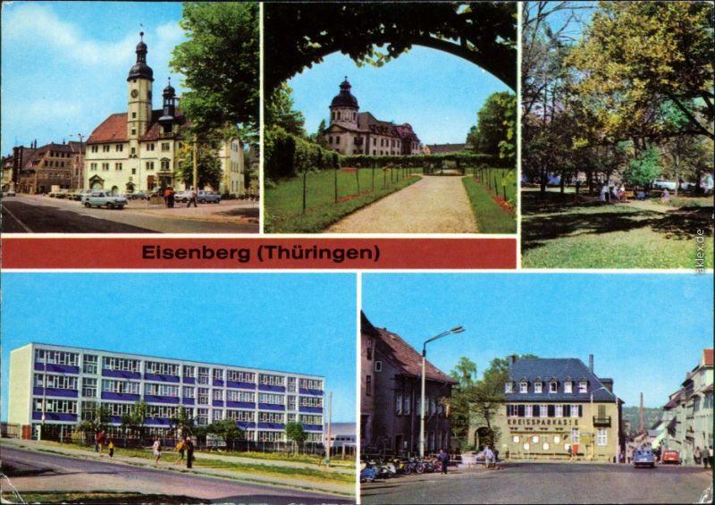 Eisenberg (Thüringen) Neue Schule im Neubaugebiet, Ernst-Thälmann-Platz 1980