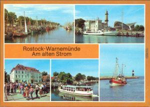 Warnemünde Rostock  Teepott Weißen Flotte Käppn Brass, Fischkutter  Mole 1983