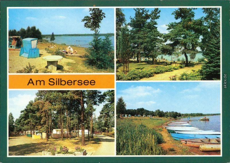 Ansichtskarte Lohsa Łaz Silbersee 1988