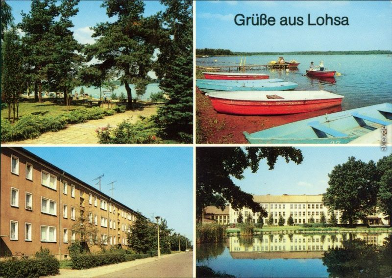 Koblenz Lohsa Łaz Strandbereich Silbersee, Karl-Marx-Straße, Oberschule 1988