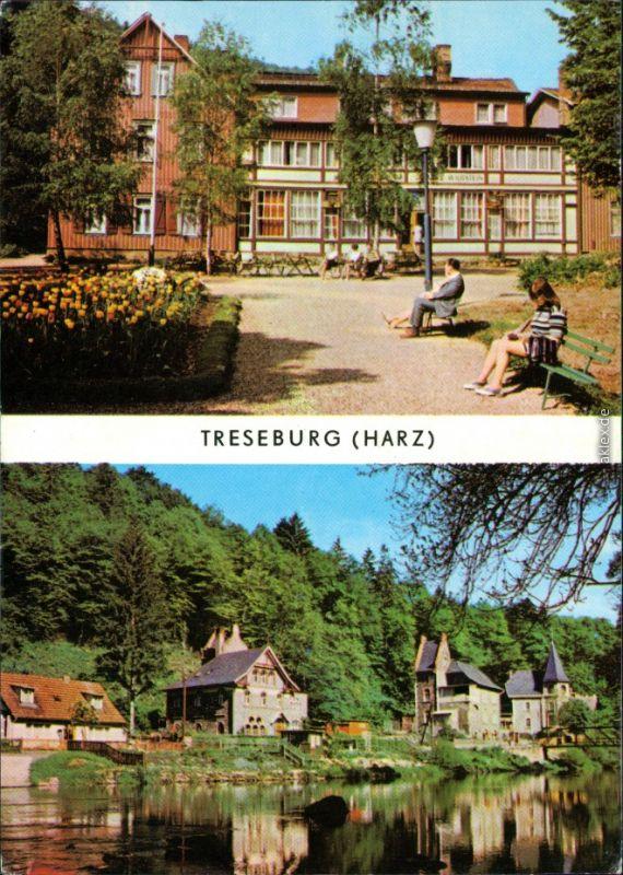 Ansichtskarte Treseburg FDGB-Erholungsheim Haus Wildstein, An der Halde 1975