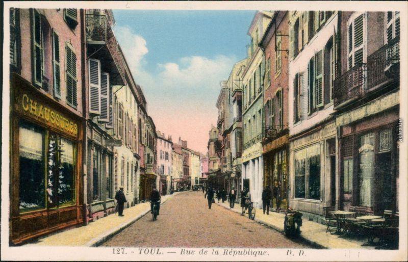 Ansichtskarte Toulouse Rue de la République 1922