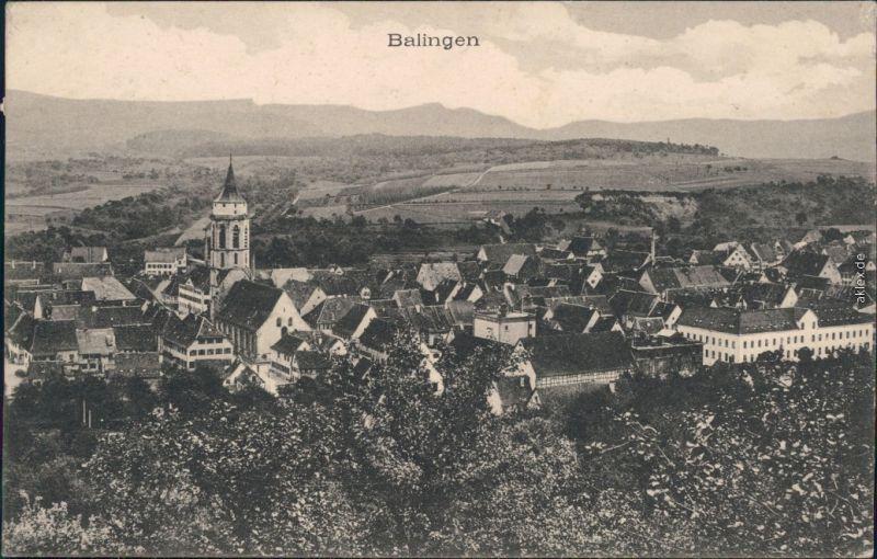 Ansichtskarte Balingen Panorama-Ansicht 1942
