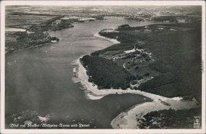 Ansichtskarte Grunewald-Berlin Luftbild Kaiser Wilhelm-Turm und Havel 1932