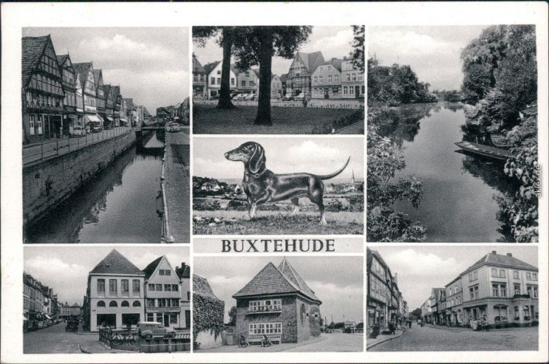 Ansichtskarte Buxtehude Mehrbild: Straßenansichten 1958