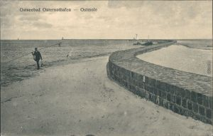 Osternothafen (Ostswine Swinemünde Warszów Świnoujście Fischer   Ostmole 1917