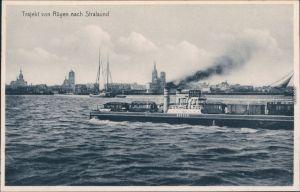 Eisenbahnfährverbindung / Trajekt von Rügen nach Stralsund 1926