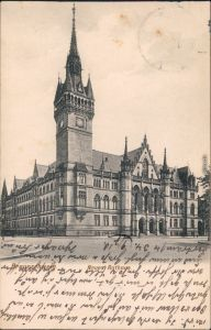 Ansichtskarte Braunschweig Neues Rathaus 1910