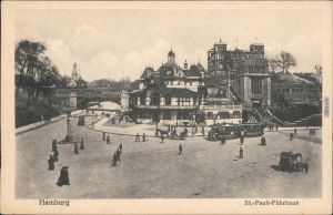 Ansichtskarte St. Pauli-Hamburg Fährhaus St. Pauli 1917