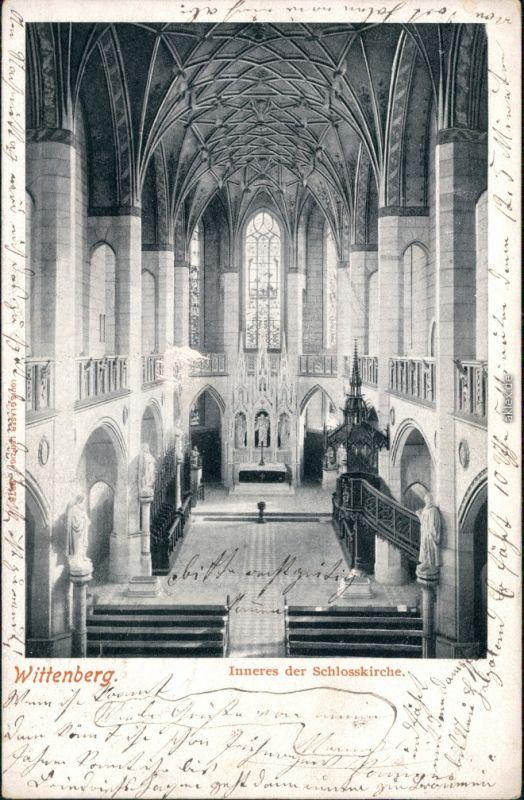 Lutherstadt Wittenberg Evangelische Schloßkirche - Innenansicht 1909