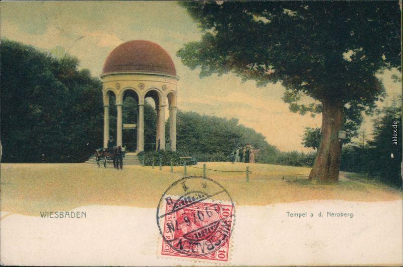 Ansichtskarte Wiesbaden Tempel - Neroberg 1907