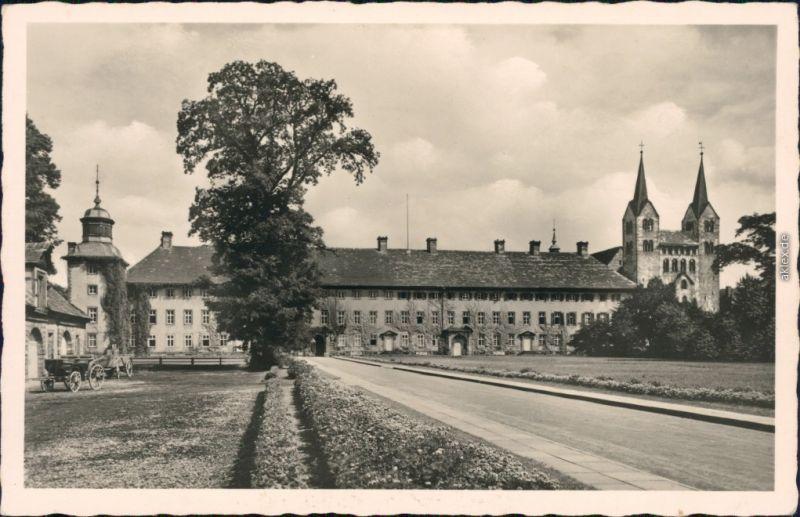 Ansichtskarte Höxter (Weser) Schloß Corvey und ehem. Reichsabtei 1960