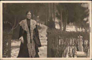 Ansichtskarte  Agnes Günther, Foto im Winter Stuttgart Marburg 1916