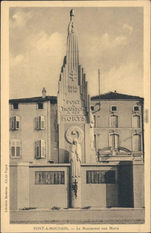Ansichtskarte Metz Pont-à-Mousson - Le monument aux Morts 1914-1918 1934