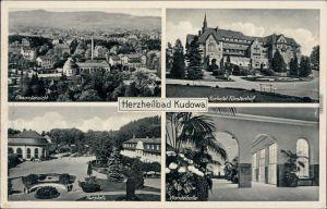 Bad Kudowa Kudowa-Zdrój 4 Bild: Kurplatz,   Fürstenhof u. Wandelhalle 1934