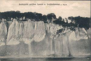 Stubbenkammer Sassnitz Saßnitz Kriedefelsen zwischen Sassnitz und  1908