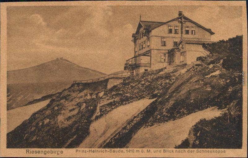 Krummhübel Karpacz Prinz-Heinrich-Baude / Schronisko Księcia Henryka 1918