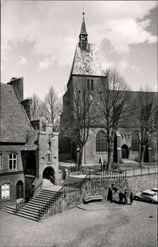 Mölln (Schleswig-Holstein) St. Nicolai Kirche Gerichtslaube 1964