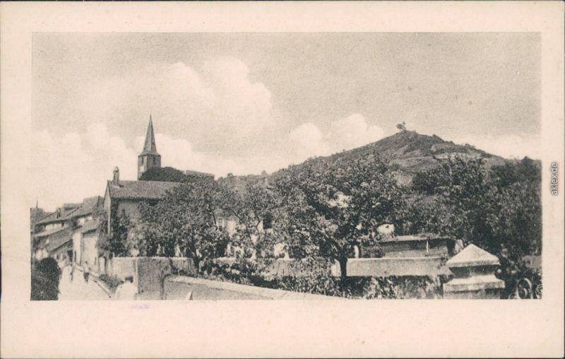 Ansichtskarte Waville Panorama-Ansicht mit Kirche 1914