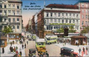 Mitte-Berlin Berliner Verkehr - Unter den Linden Ecke Friedrichstraße 1914