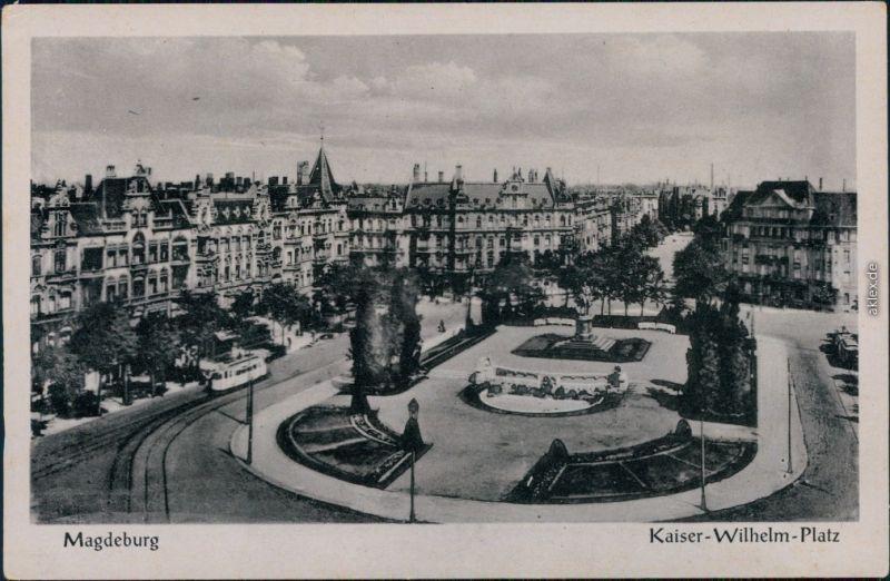 Ansichtskarte Magdeburg Partie am Kaiser Wilhelm Platz 1935