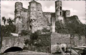 Ansichtskarte Neckargemünd Burgruine Dilsberg 1960