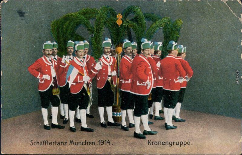 Ansichtskarte München Schäfflertanz - Kronengruppe 1910