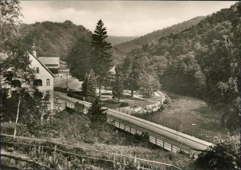 Ansichtskarte Treseburg Bodebrücke 1970