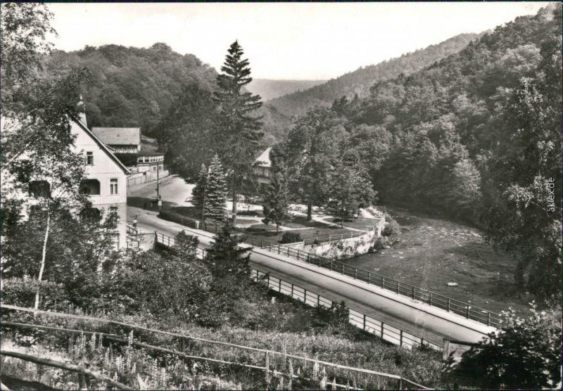 Ansichtskarte Treseburg Bodebrücke 1978