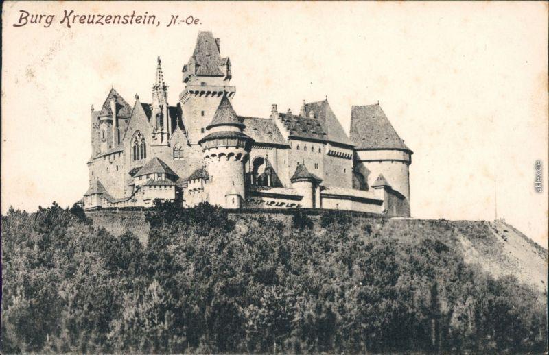 Ansichtskarte Leobendorf Burg Kreuzenstein 1907