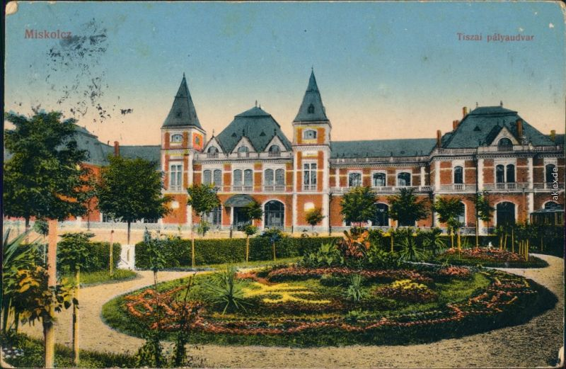 Ansichtskarte Miskolc Miskolc (Miškovec/Miszkolc) Tiszai Palyaudvar 1915