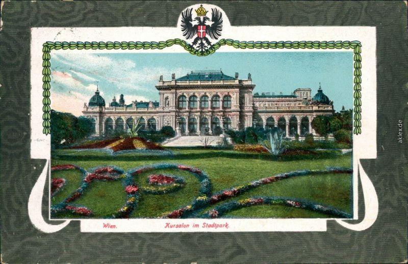 Ansichtskarte Wien Kursalon im Stadtpark - Jugendstil 1912