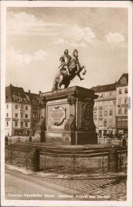Innere Neustadt-Dresden Neustädter Markt - goldener Reiter 1936