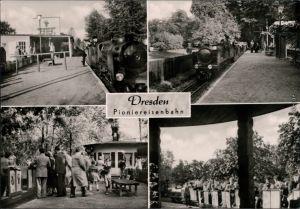 Ansichtskarte Dresden Dresdner Parkeisenbahn Pioniereisenbahn 1963