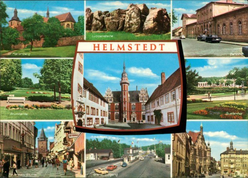 Helmstedt St. Marienberg, Hausmannsturm, Grenzübergang, Bahnhof, Quellenhof 1973