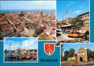 Stralsund Panorama-Ansicht, Meeresmuseum/Museum für Meereskunde, Hafen g1982
