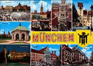 München Karlsplatz, Viktualienmarkt, Rathaus, Hofgarten 1970