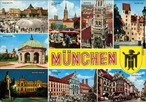 München Karlsplatz, Viktualienmarkt, Rathaus, Hofgarten, Maximilianeum,   1987