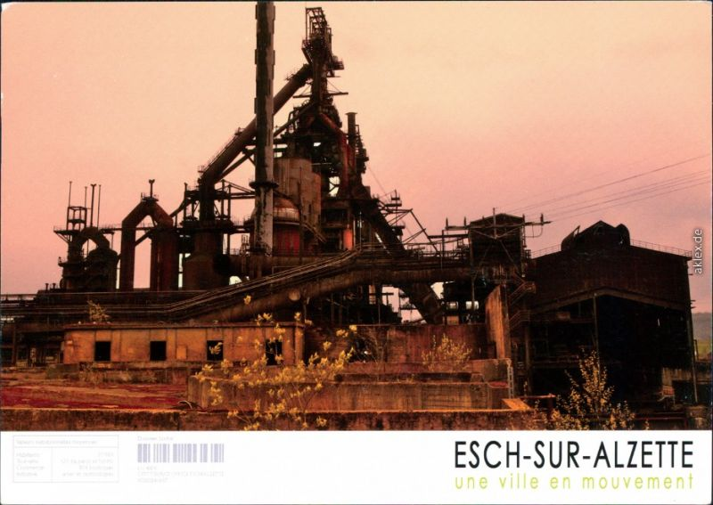 Ansichtskarte Esch an der Alzette Industrieanlagen - Ruinen 2000