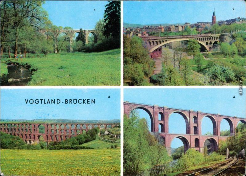 Plauen (Vogtland) Syratalbrücke,   Elstertalbrücke (Autobahn) 1974