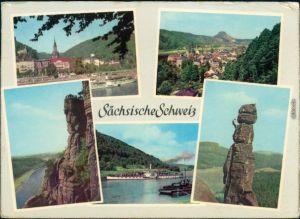 Bad Schandau - Panorama-Ansichten, Basteifelsen (Sächsische Schweiz),   1964