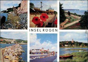 Göhren (Rügen) Insel Rügen: Wissower Klinken, Strandpromenade,   Steindamm 1985