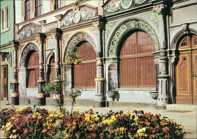 Ansichtskarte Weimar Lucas-Cranach-Haus 1988